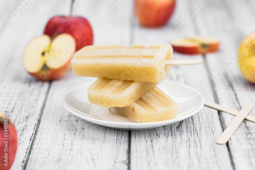 Apple Popsicles (selective focus)
