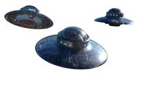 Ufo Flying. 3d Render