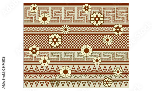 Photo Rendering of a Ancient Greek Vase Astragals Motif Pattern.
