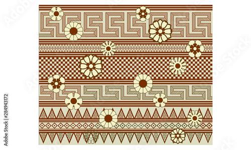 Rendering of a Ancient Greek Vase Astragals Motif Pattern. Canvas Print