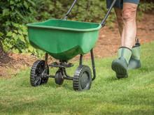 Man Seeding And Fertilizing Re...