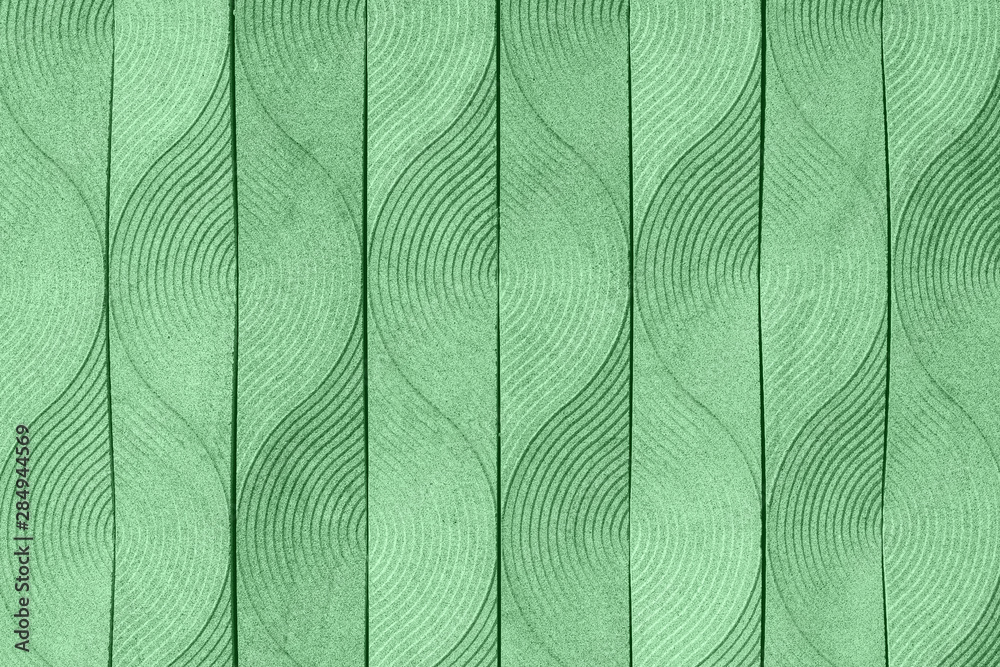 Trendy mint colored abstract elegant art deco geometric ornament textured background. Year color concept.
