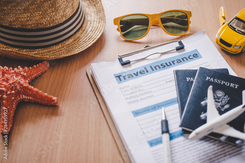 Photo Travel insurance documents to help travelers feel confident in travel safety