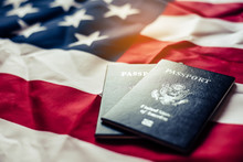 Passport Is Placed On The US F...
