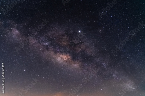 Photographie  Beautiful night sky of milky way galaxy for background.