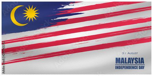 Fotomural Malaysia INDEPENDENCE DAY and Malaysia flag translation (31 ogos selamat hari me