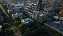 Aerial California Sacramento May 2019 Sunny Day 30mm 4K Inspire 2  Aerial Video Of Downtown Sacramento On A Beautiful Sunny Day.