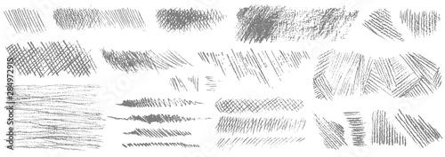 Fotografia  Set of hand drawn pencil strokes