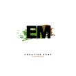 E M EM Initial logo template vector. Letter logo concept.
