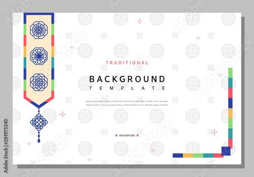 Obraz Simple Korean traditional pattern template - fototapety do salonu