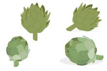 Artichoke Green Flower Heads I...