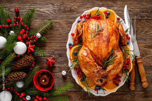 Photo  Christmas turkey