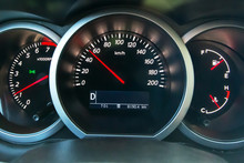 The Dashboard Of The Car, On T...