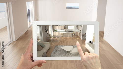 Photo Augmented reality concept