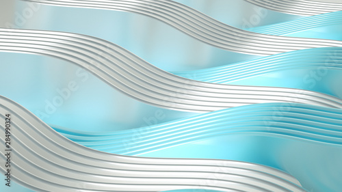 La pose en embrasure Abstract wave Elegant smooth wave lines background. 3d illustration, 3d rendering.