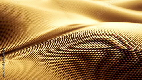 particle-drapery-luxury-gold-background-3d-illustration-3d-rendering