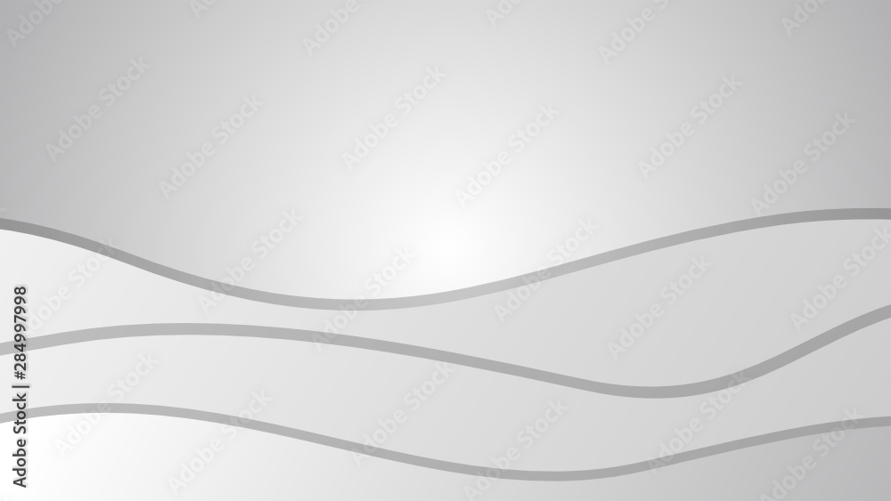 Fototapety, obrazy: Smooth Abstract Wavy Gradient Lines Vector with White Grey Gradient Background for Designs Web Design Banner Poster etc.