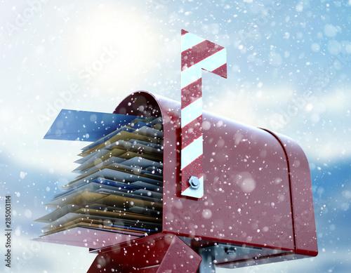 Fotografie, Obraz  Santa Mailbox