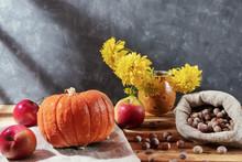 Fresh Vegetables: Pumpkin, App...
