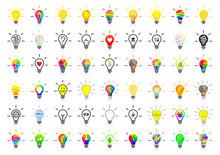 Big Set Of Lightbulbs. Bulb Co...