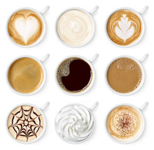 Set Of Different Coffee Types