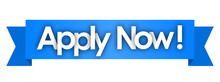 Apply Now In Blue Ribbon Background