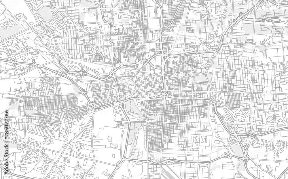 Fototapeta Columbus, Ohio, USA, bright outlined vector map
