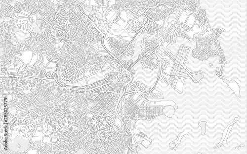 Boston, Massachusetts, USA, bright outlined vector map Wallpaper Mural