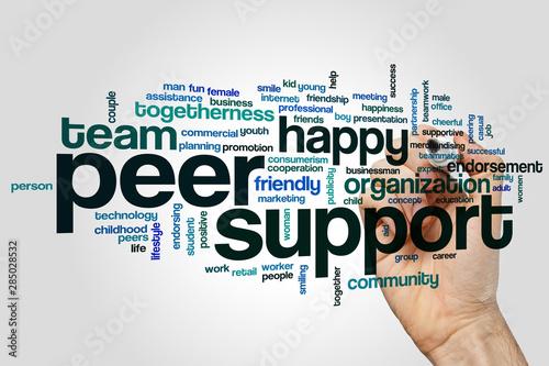 Photo Peer support word cloud