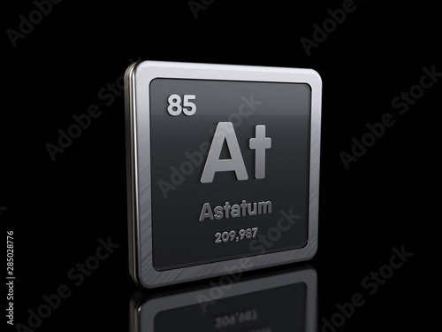 Astatine As, element symbol from periodic table series Wallpaper Mural