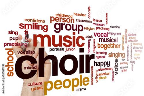 Carta da parati Choir word cloud