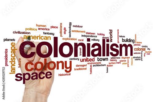 Fotomural Colonialism word cloud
