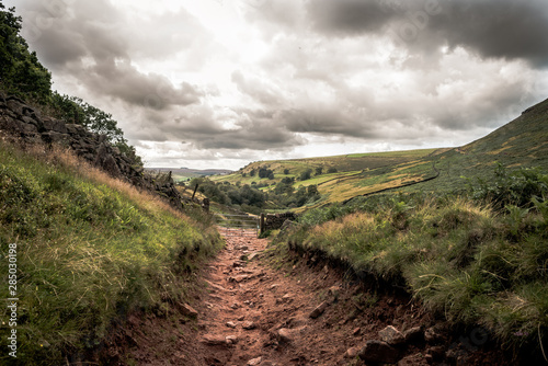Old footpath in the maountains Wallpaper Mural