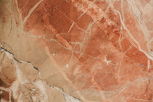 Marble Surface As Texture And Background For Design. Orange Marble Texture.