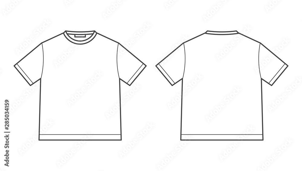 Fototapeta blank tshirt design template