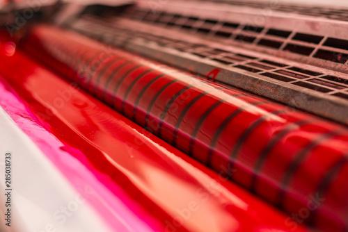 Obraz na plátně red ink printing