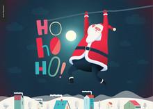 Hanging Santa Claus - Christma...