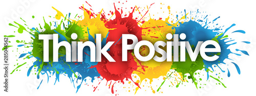 Think positive in splash's background Canvas Print