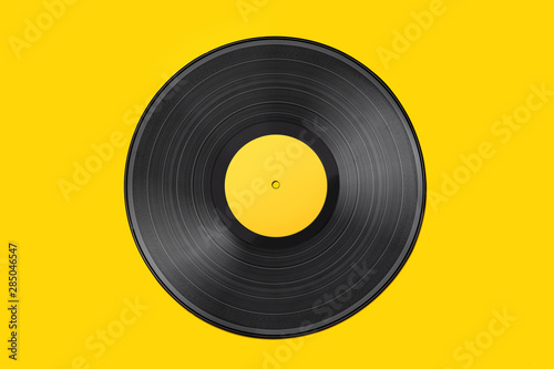Fotografía  Vinyl record on a colored background
