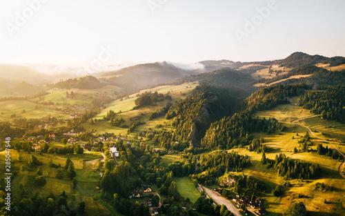 Szczawnica Wąwóz Homole Panorama z powietrza