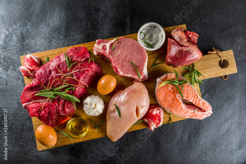 Photographie Carnivore diet background