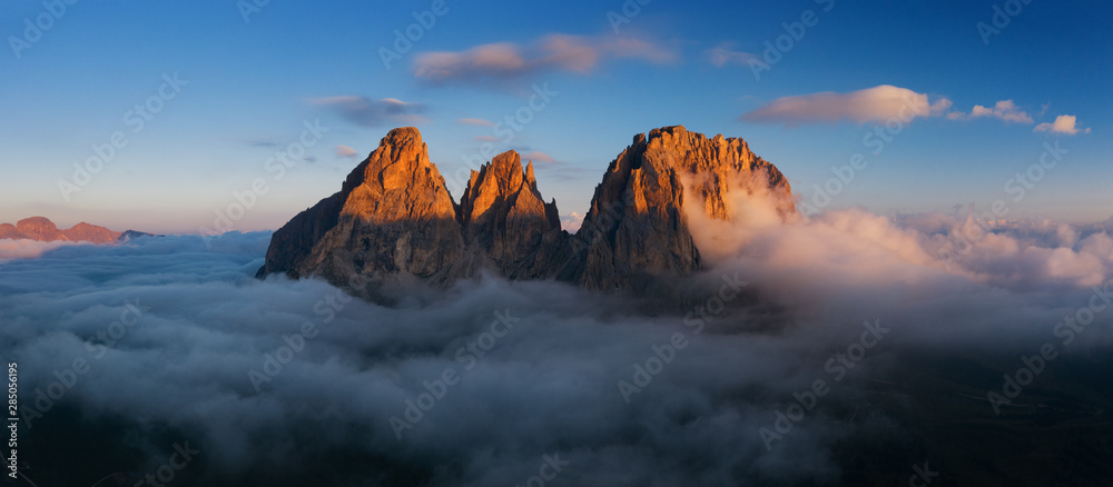 Fototapety, obrazy: Aerial view of Grohmann spitze, Dolomites, Italy