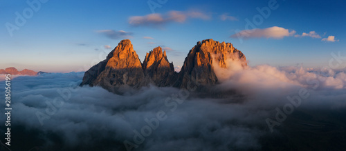 Photo Stands Countryside Aerial view of Grohmann spitze, Dolomites, Italy