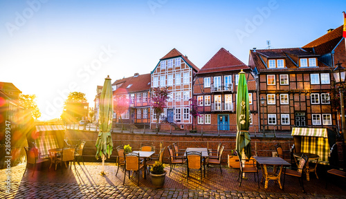 Foto auf AluDibond Schiff old town of stade in north germany