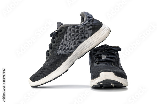 Fotografia  Fashion running sneaker shoes isolated on white background.