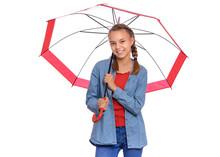 Portrait Of Teen Girl Holding ...
