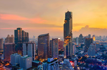 Aerial View Of Bangkok Modern ...
