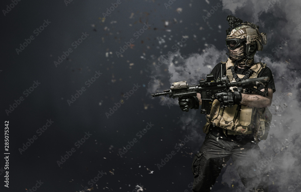 Fototapeta special forces soldier , military concept