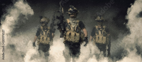 Cuadros en Lienzo special forces soldier , military concept