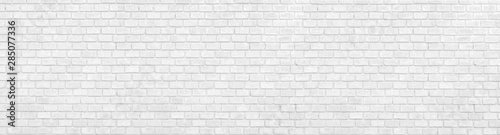 Wall Murals Brick wall panorana black and White Structural Brick Wall. Panoramic Solid Surface. stone background.